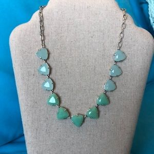 Stella & Dot Somerville Necklace Aqua with pouch